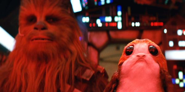 Chewbacca and porg