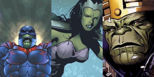 Titannus, Anelle and Dorrek VII Skrulls