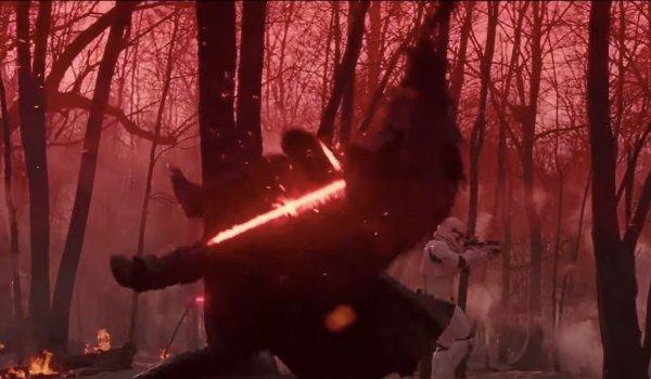 Star Wars: The Rise of Skywalker Kylo Ren bodyslams a rando in battle