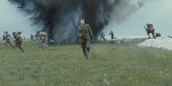 1917 George MacKay running towards the camera