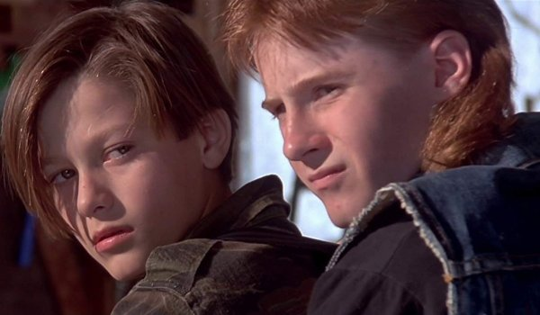 Terminator 2: Judgement Day John on his bike, with Tim behind him