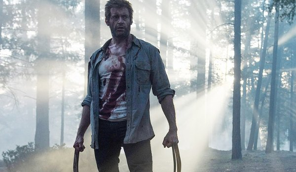 Logan Hugh Jackman claws out in the forest