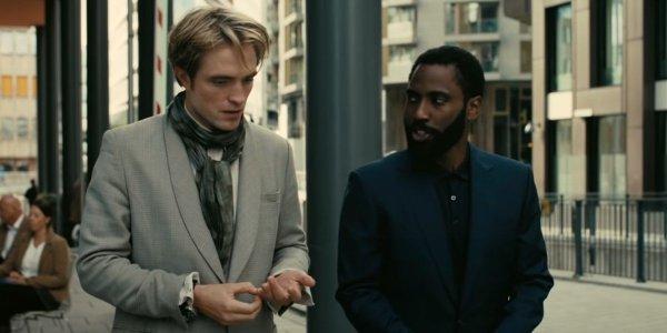 Robert Pattinson on the left