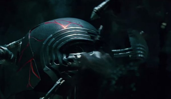 Star Wars: The Rise of Skywalker Kylo Ren's helmet being reassembled