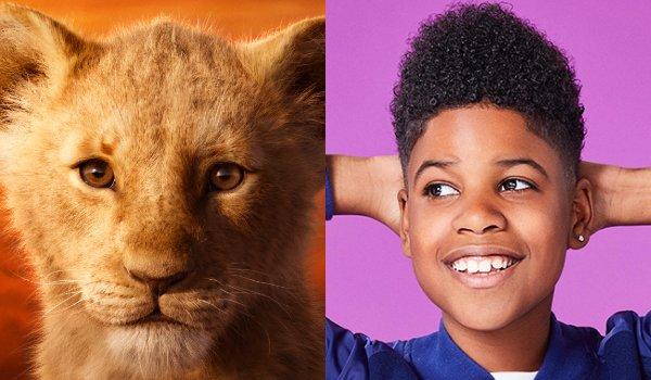 Le Roi Lion Young Simba et JD McCrary côte à côte