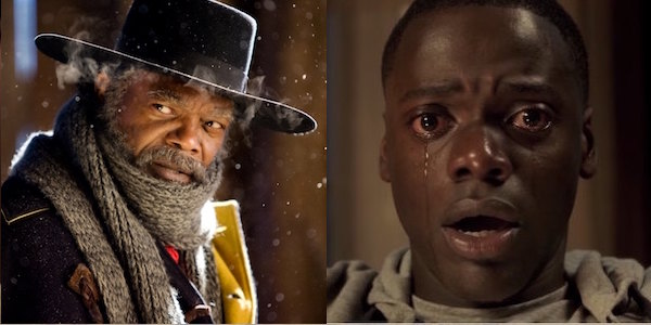 Samuel L. Jackson in The Hateful Eight and Daniel Kaluuya in Get Out