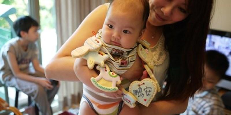 ▌三寶媽碎碎念▌小王子四個月囉!超可愛的收涎餅乾♥NIJI cupcake♥給他吃甜甜