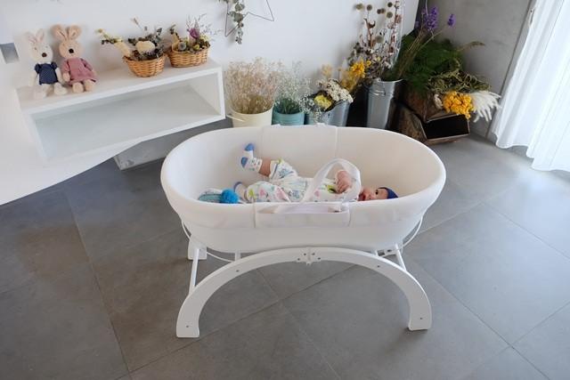 ▌育兒好物▌白色夢幻♥英國Shnuggle Dreami甜夢嬰兒床♥多功能移動式嬰兒床、舒芙蕾寶寶毯、BumGo外出包