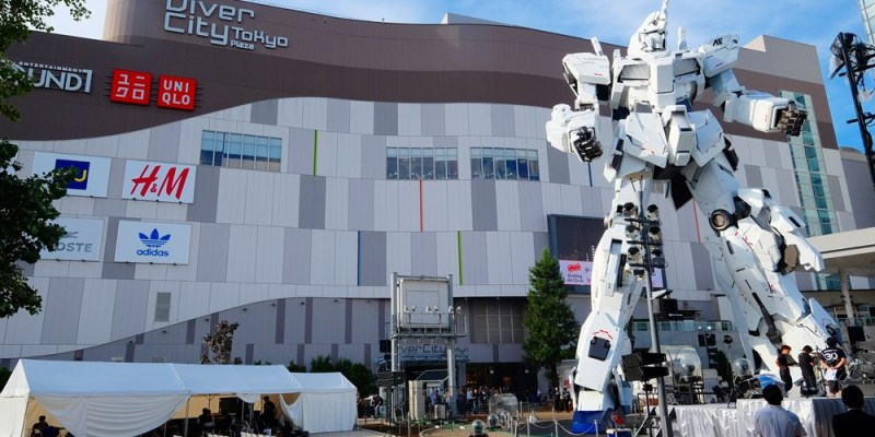 ▌東京景點▌ 日本橋COREDO室町 x 全新登場台場【DiverCity Tokyo 購物中心實物大小獨角獸鋼彈立像】