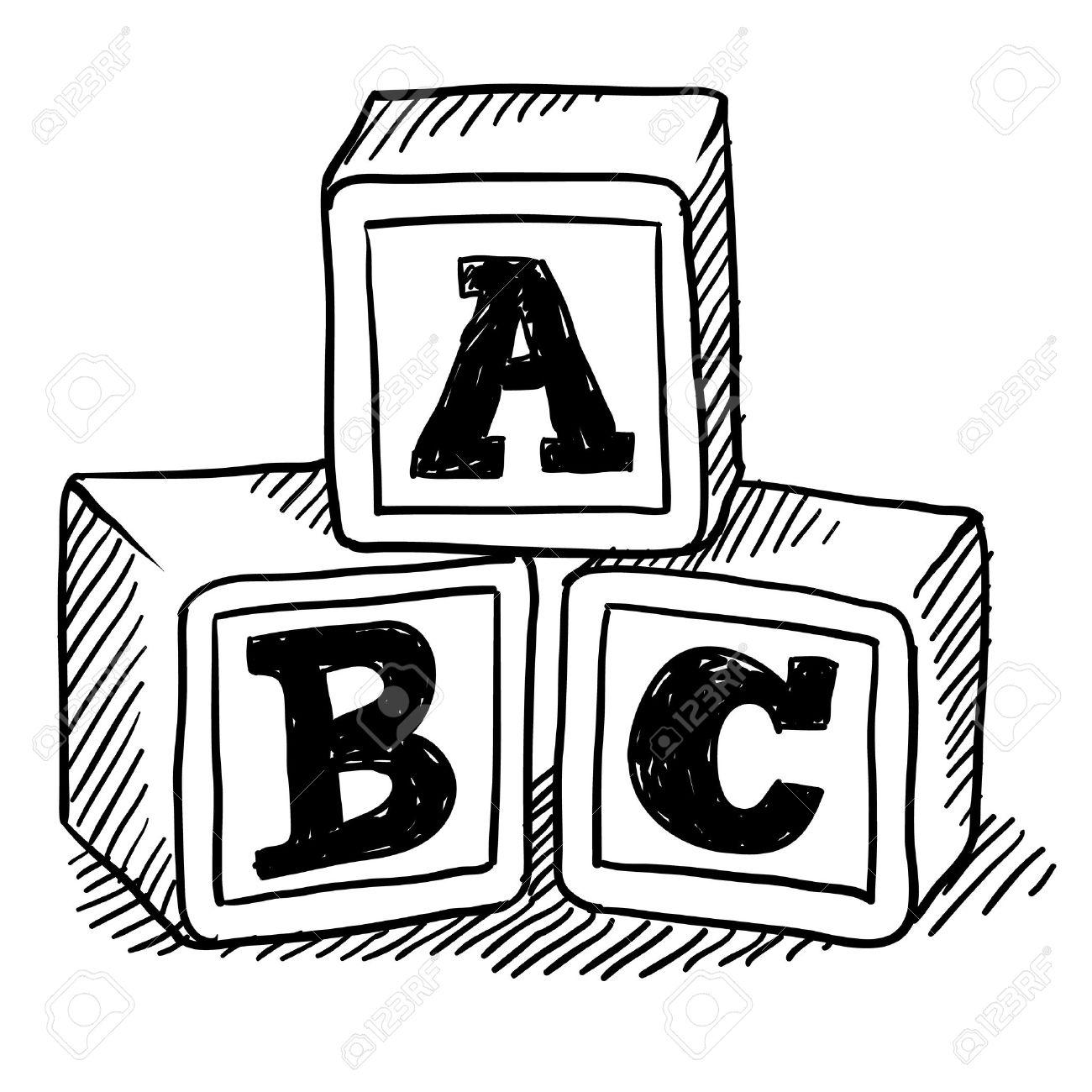 56 Abc Blocks Clipart