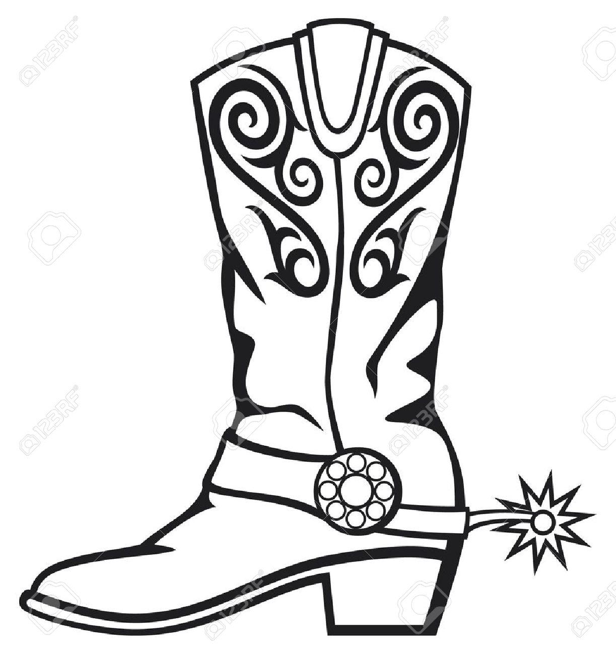 21 Cowboy Boots Clip Art
