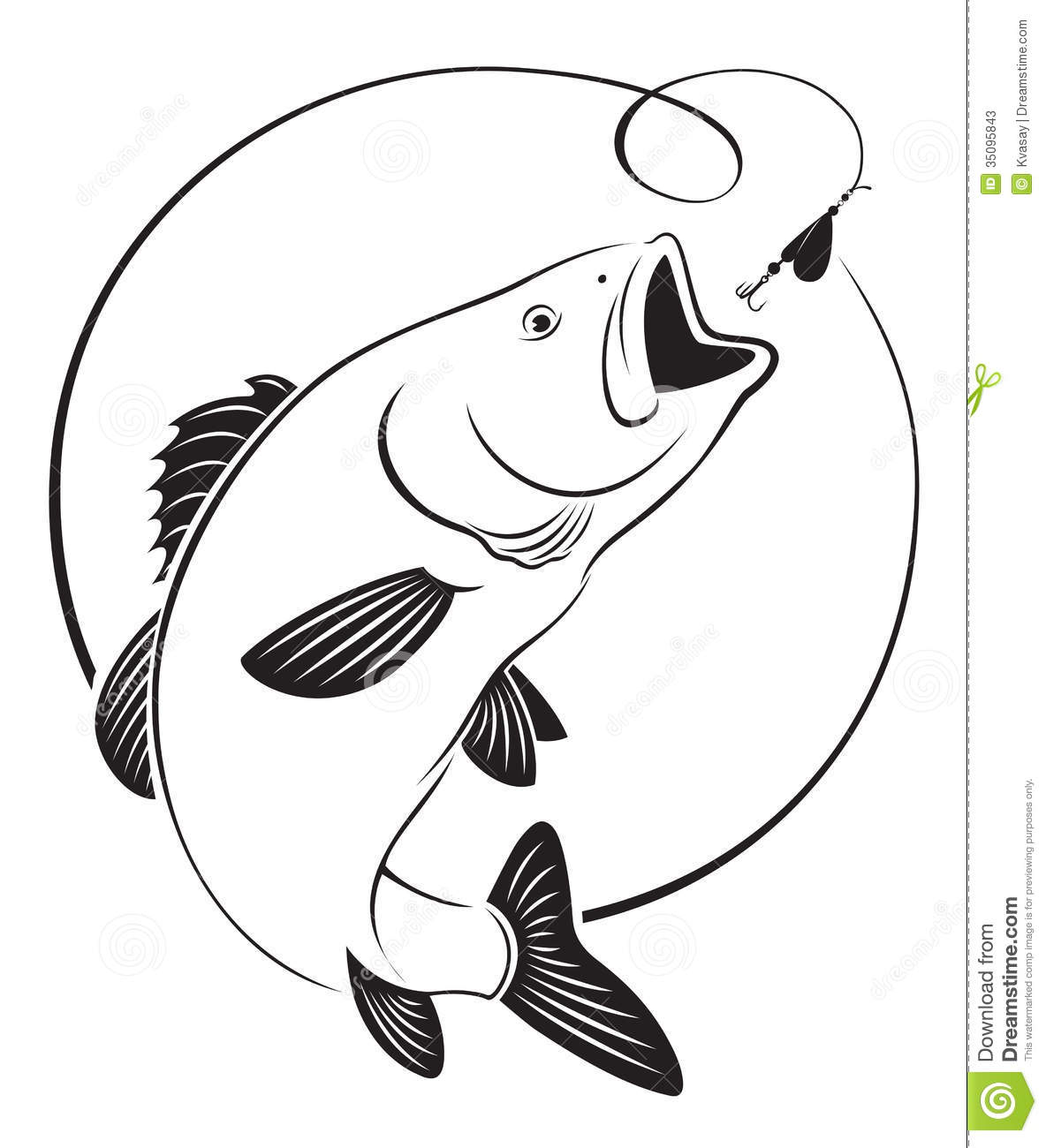 41 Bass Fish Clipart
