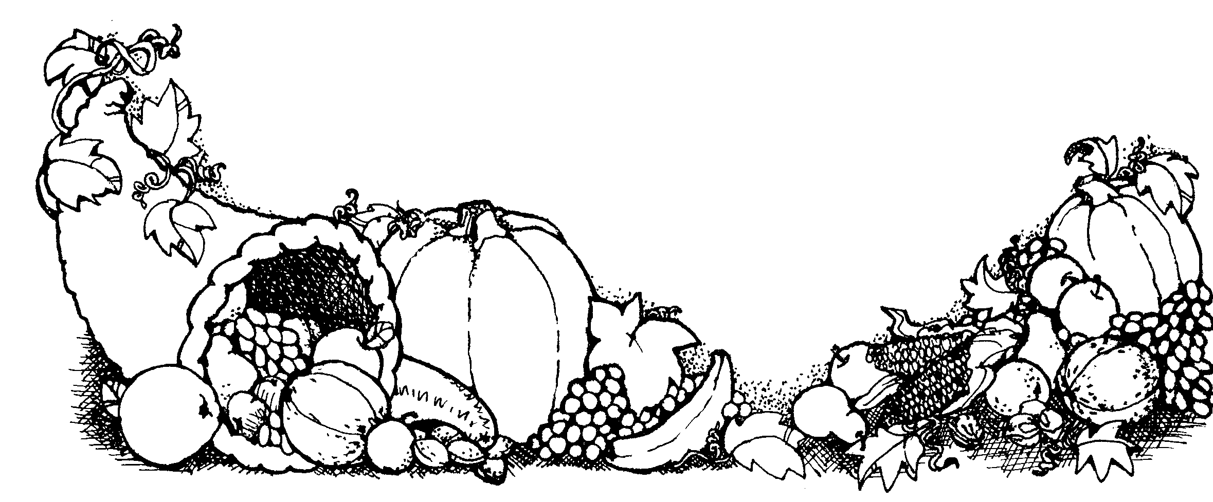 Thanksgiving Clip Art Black And White Amp Look At Clip Art