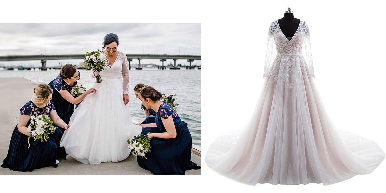 Plus Size Wedding Dresses, Custom Size Bridal Dresses