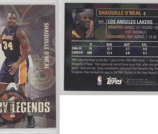 2001 02 Topps Lottery Legends Ll1 Shaquille O