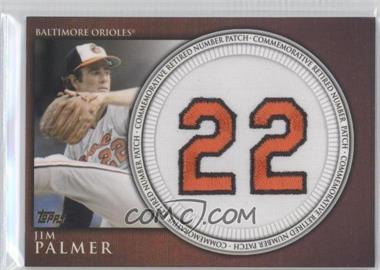 2012 Topps Retired Number Patches #JP - Jim Palmer S2 - Courtesy of COMC.com