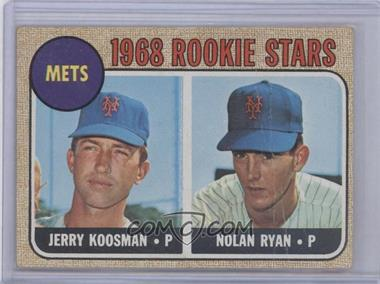 1968 Topps #177 - Rookie Stars/Jerry Koosman RC (Rookie Card)/Nolan Ryan UER (sensational is spelled incorrectly) RC ( [Good to VG‑EX] - Courtesy of COMC.com