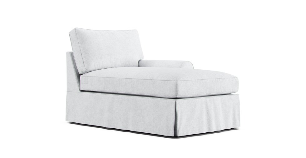 pb basic right arm chaise slipcover