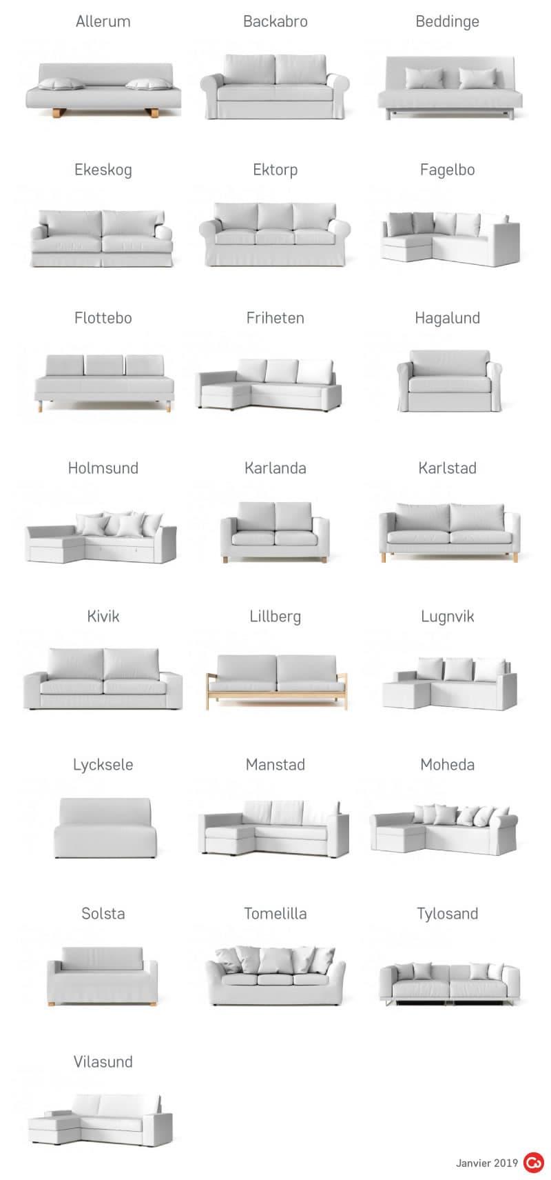 Canapes Ikea Anciens Et Abandonnes Comfort Works