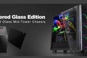 曜越全新電競專用View 21 TG強化玻璃中直立式機殼 雙側強化玻璃設計﹒內部寬暢大空間