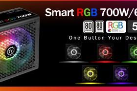 曜越全新電競專用Smart RGB電源供應器系列 500W/600W/700W