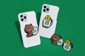LINE Pay 聯手星巴克推集點活動 聯名熊大手機支架輕鬆免費獲取!