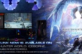MSI與Capcom獨家合作<魔物獵人 : ICEBORNE>遊戲燈光Ambient Link功能.