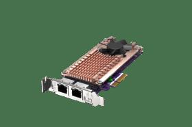 威聯通推出NAS/PC兼用的M.2 2280 PCIe NVMe SSD 整合雙埠 2.5GbE 擴充卡