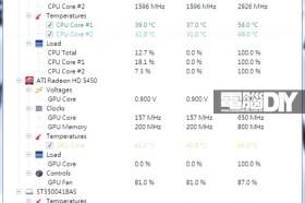 系統監測軟體Open Hardware Monitor v0.3.2-beta