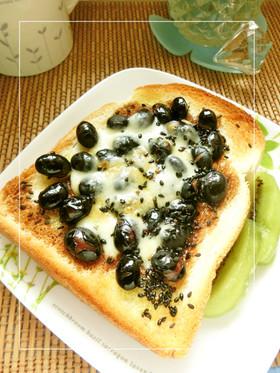 黒豆 チーズ トースト