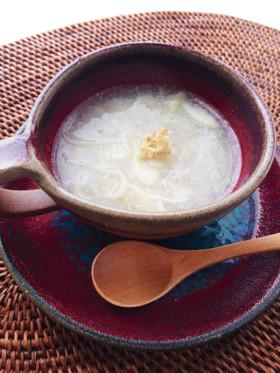 喉がうるおう!レンコンのすりながしスープ