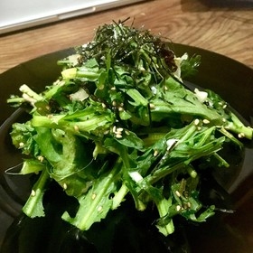 【春菊嫌いにも】塩昆布と春菊のサラダ