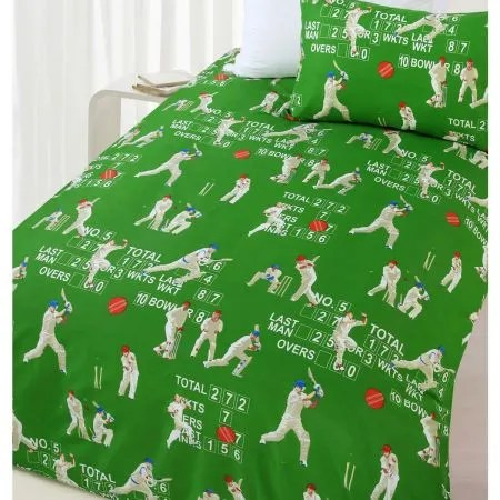Queen Bed Cricket Quilt Cover Set Crazy Sales