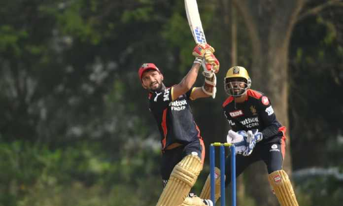 IPL 2021 Rajat Patidar shines in the practise match of RCB with his monstrous 49-ball 104 runs