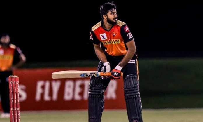 IPL 2021 SRH Vijay Shankar smashed a quick 95 in practise match