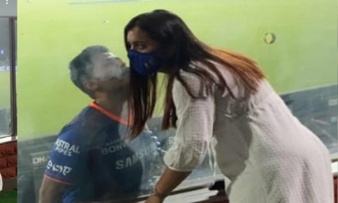 Cricket Image for Ipl 2021 Suryakumar Yadav Kiss His Wife In Unique Way