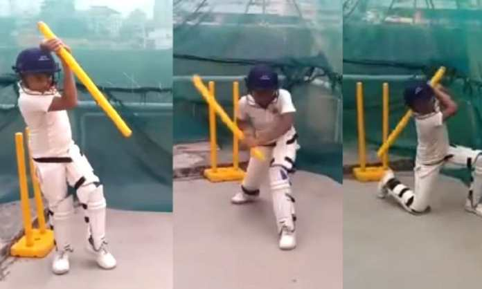 The 9 year old viral boy batting from stumps names his favourite cricketer