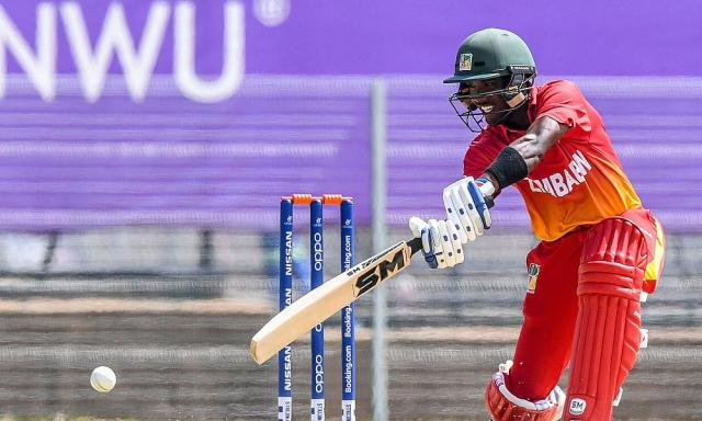 Wessly Madhevere of Zimbabwe during the ICC U19 Cricket World Cup Plate Quarter Final 3 match between Zimbabwe and Canada