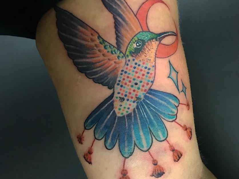 15 ideas de tatuajes de bordados huicholes y otomíes 10