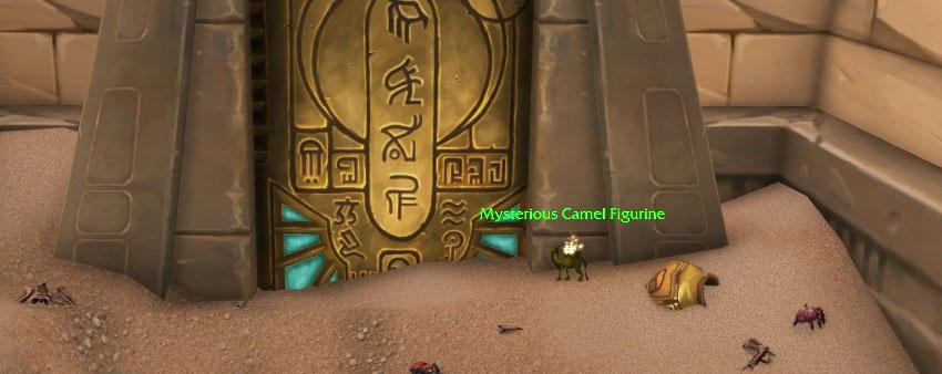 mysterious camel figurine