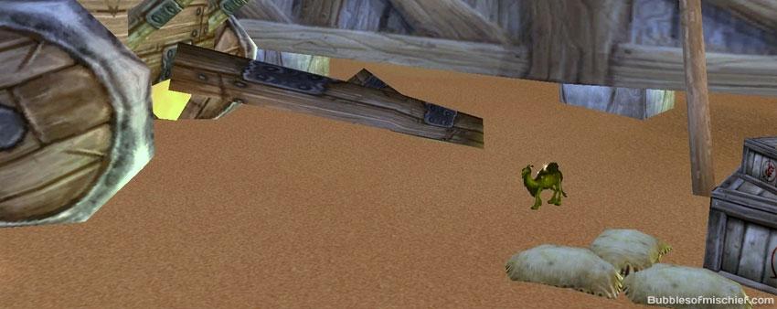 mysterious camel figurine schnottz-landing by tent