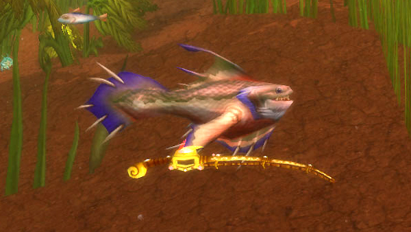 fish holding the jewelled fishing pole