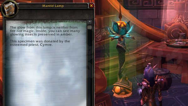 Pristine Mantid Lamp - archaeology in pandaria