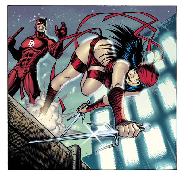 DAREDEVIL and ELEKTRA by AdamWarren