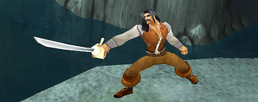 Inigo holding a sword from princess bride
