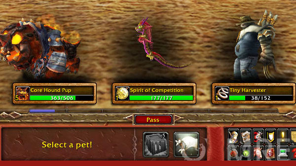 Select Pet in the pet journal
