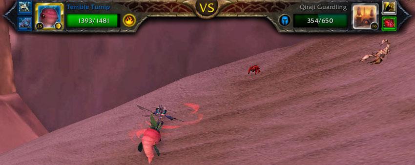 Qiraji Guardling pet battle
