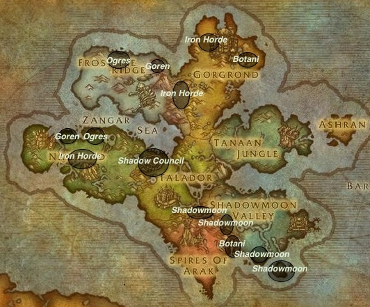 Garrison Invasion map - garrison guide
