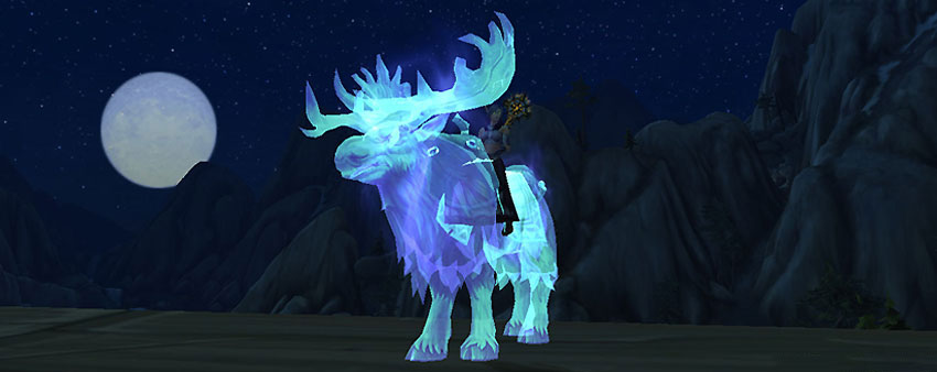 spectral moose - archaeology mounts