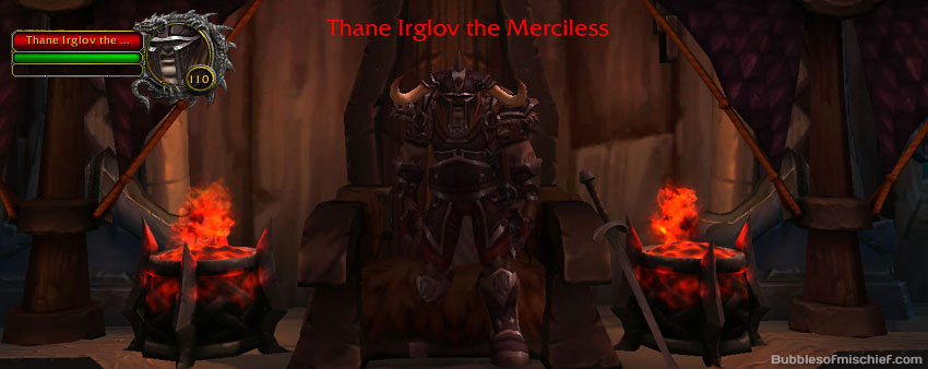Thane Irglov the Merciless is located in top building in Hrydshal  - drops the Faintly Glowing Flagon of Mead